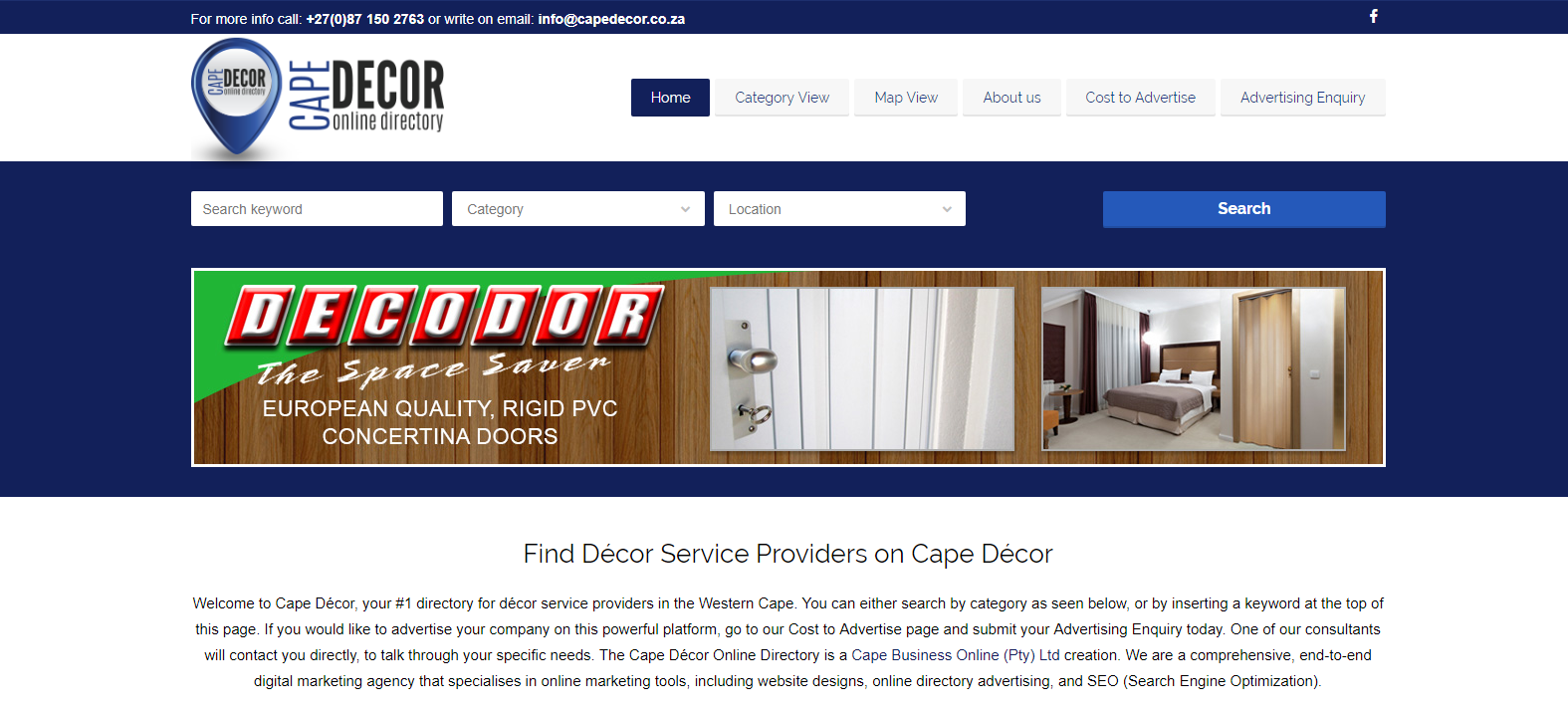 Cape Decor - for all your decor needs in the Cape!